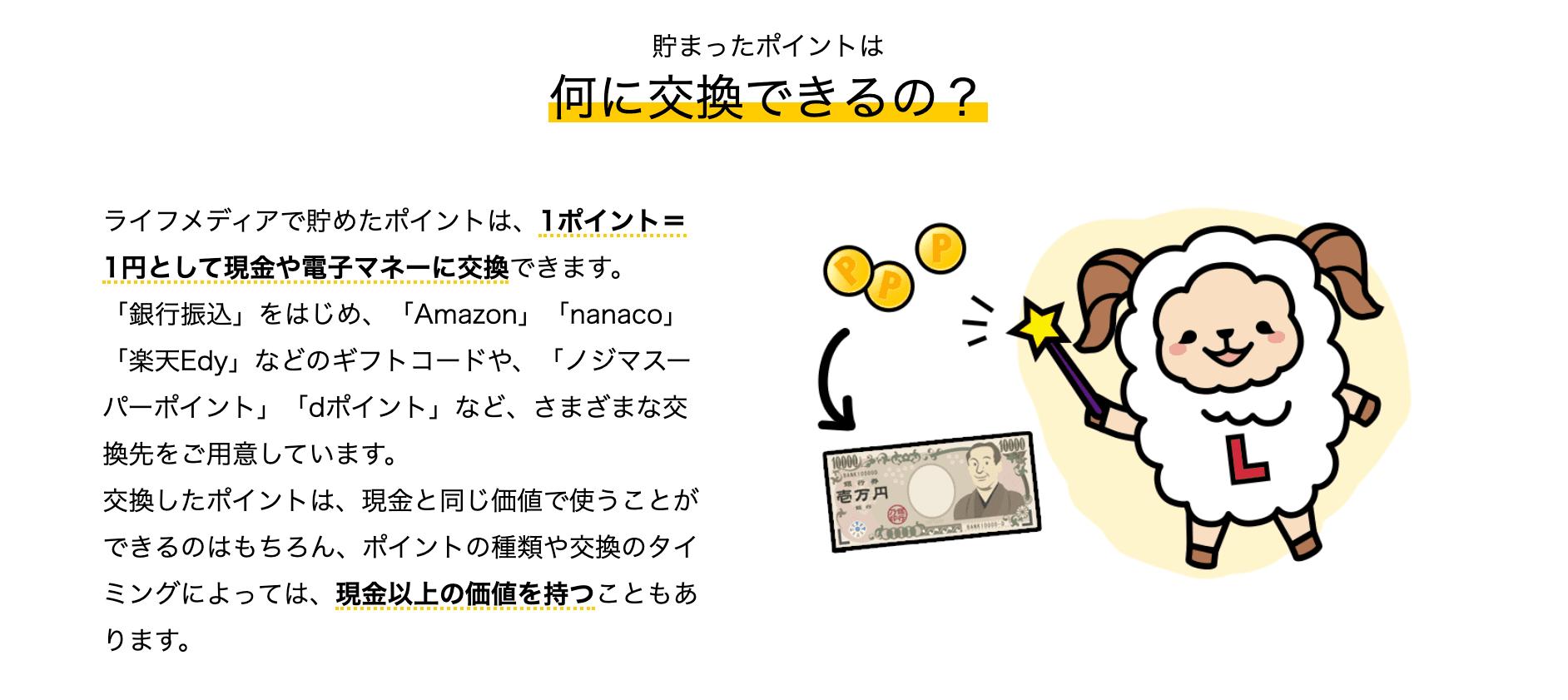 ポイントレートが1ポイント1円とわかりやす